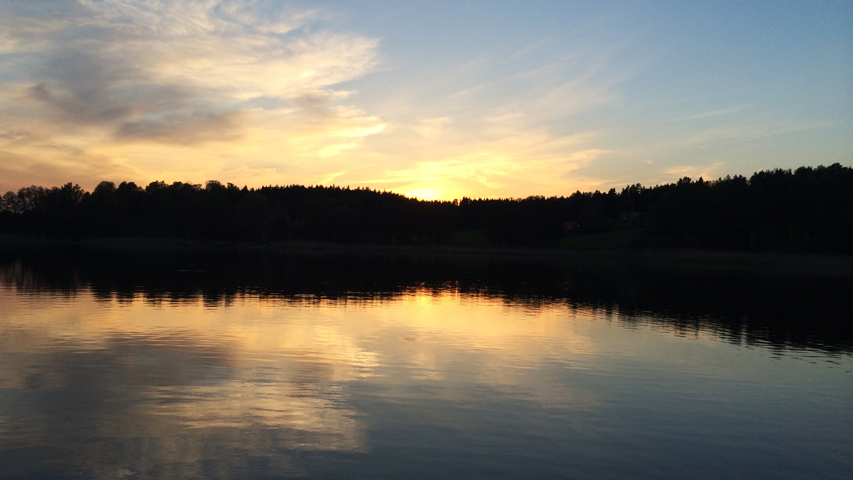 solnedgång vaxholms skärgård