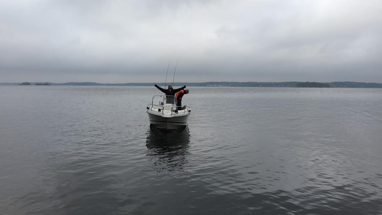 båt fiske vaxholm
