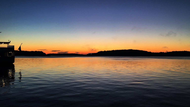 solnedgång vaxholm